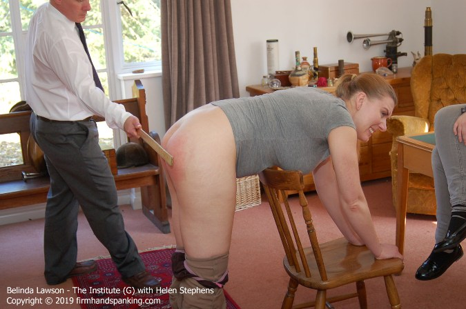 Wooden Yard Stick Gives Belinda Lawsons Bottom Stinging Workout - HD 1280x720 Video