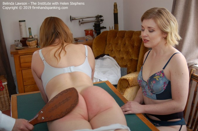 35 With A Leather Paddle - Helen Stephens, Belinda Lawson - HD 1280x720 Video