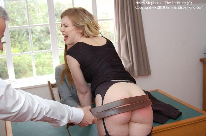 Strapped Across Her Bouncing Bare Bottom - Helen Stephens, Belinda Lawson - HD 1280x720 Video