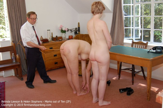 Belinda And Helen Each Take An Extra Six Cane Strokes - HD 1280x720 Video