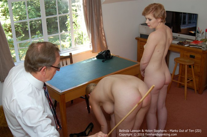 Totally Nude Naval Caning Continues For Belinda And Helen - HD 1280x720 Video