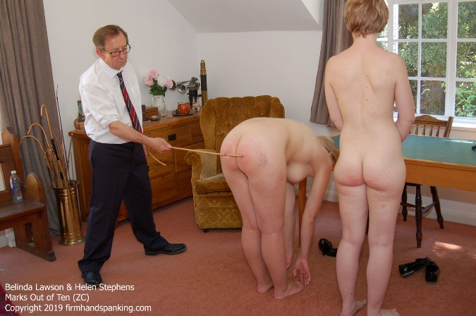 Caning Continues As Belinda And Helen Touch Their Toes - HD 1280x720 Video