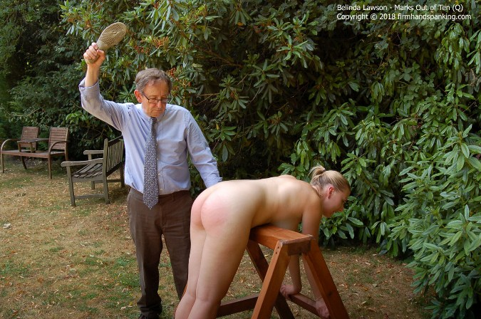 Belinda Lawson Spanked And Slippered Topless Over Punishment - HD 1280x720 Video