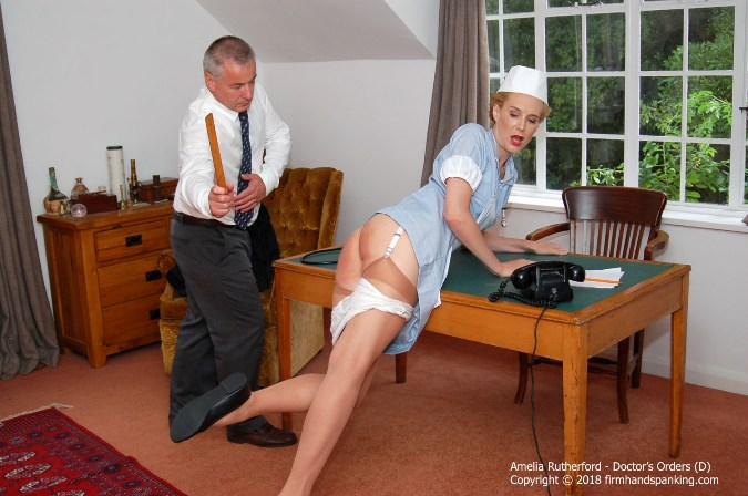 Nurse Amelia A Bare Bottom Spanking With Ruler - HD 1280x720 Video
