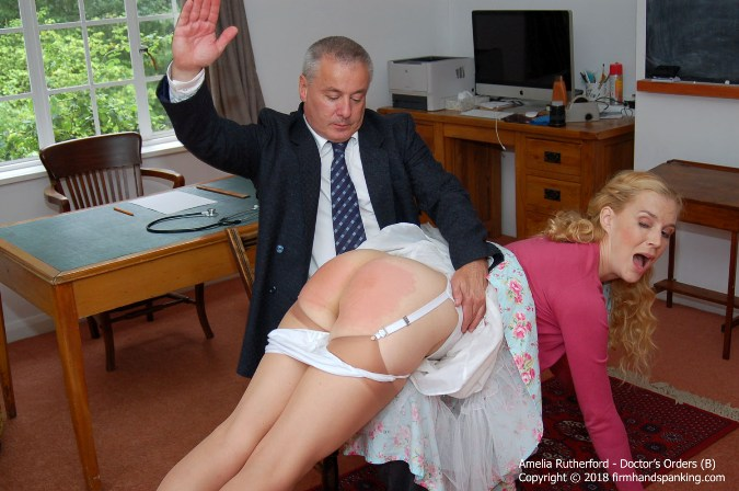 Panties Down, Nurse Amelia Rutherford Is Soundly Spanked For Disrespect - HD 1280x720 Video