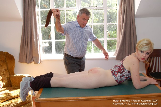 Reform Academy Strapping On Leggings And Bare Bottom - HD 1280x720 Video