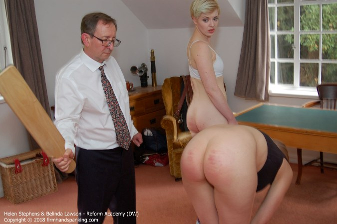 Helen And Belindas Bottoms Paddled - HD 1280x720 Video