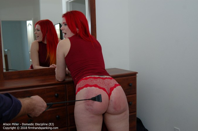 Red Hair, Red Dress - And Now A Red Ass - Alison Miller - HD 1280x720 Video