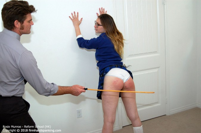 14-Stroke Caning Finale For Gorgeous Student Rosie Munroe - HD 1280x720 Video