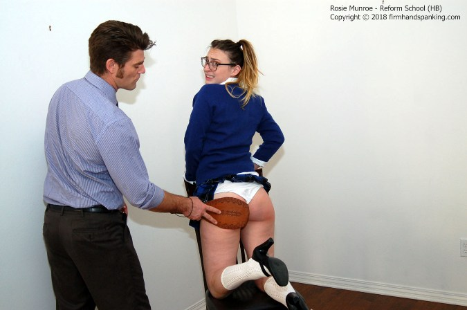 School Uniform Paddling For Troublesome Rosie Munroe - HD 1280x720 Video