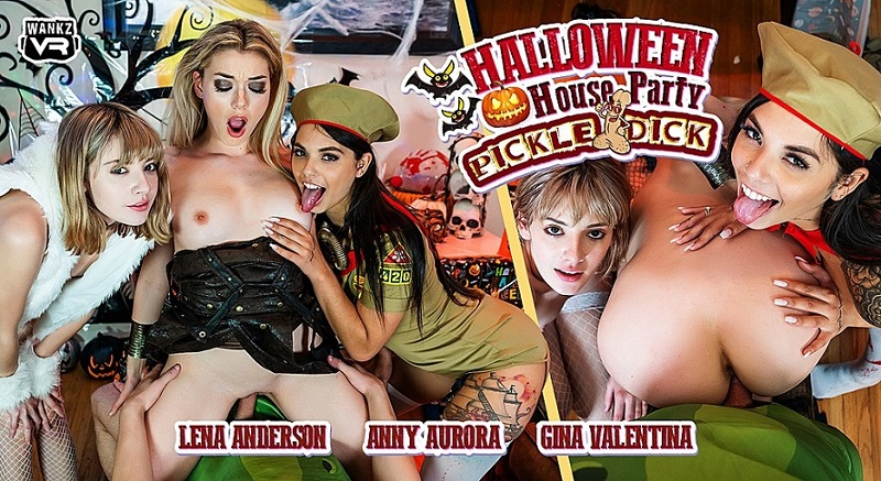 Halloween House Party: Pickle-Dick, Anny Aurora, Gina Valentina, Lena Anderson, 2 November, 2019, 3d vr porno, HQ 2300
