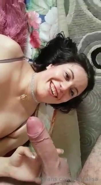 Alisa Lisa (aka Raduga) - POV suck cock, Deep Throat and Facial