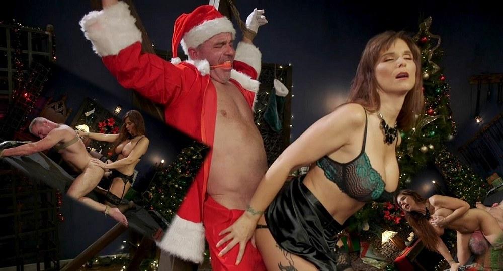 DivineBitches / Kink - Syren de Mer - Santa Gets Got: MILF Syren de Mer Catches Dale Savage in Her Dungeon