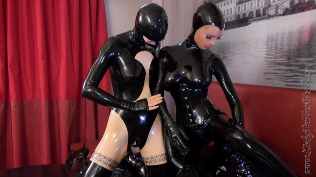 Nadiras And Laras Shared Fucking Toy Rubberdoll