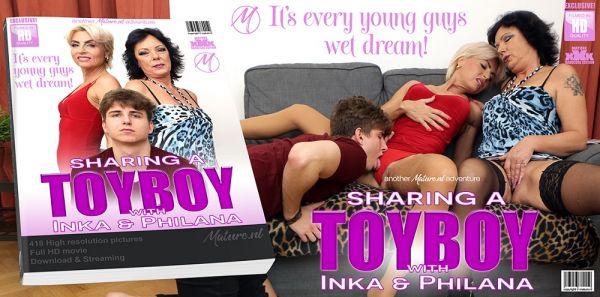Inka 50 Philana  48 -Two mature sluts share one horny toyboy