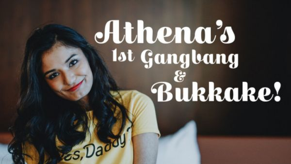 TexxxasBukkake - Athena's 1st Gangbang & Bukkake (11.01.2020) [HD 720p] (Gangbang)