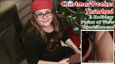 DisciplinaryArts – POV Series: Christmas Peeker Thrashed