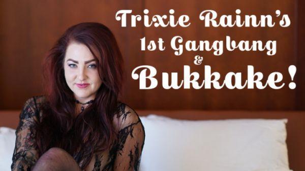 TexxxasBukkake - Bukkake - Trixie Rainn's 1st Gangbang & Bukkake (FullHD 1080p) [2020]