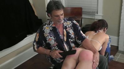 Dallas Spanks Hard – Hailey 7 – No Helmet Spanking