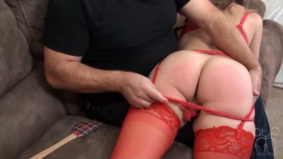 Chrissy Marie Spanked with the Spatula – Holiday Spanking 2