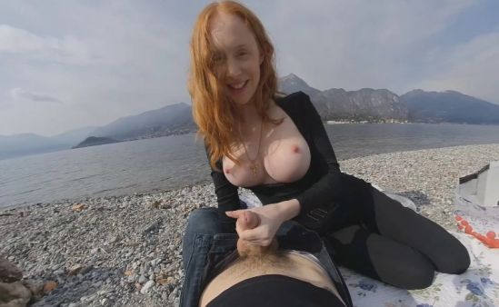 Lakeside Picnic with a Blowjob Oculus Rift