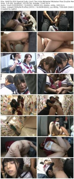 NHDTA-329 Special Daily Limit Two Hole Molester Molester Pies Double Penetration In Every Day To See The Girl On Train