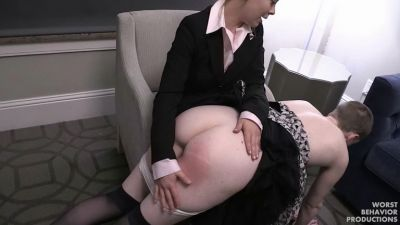 Riley Spanked, Strapped, Swatted And Kicked In The Bumhole Part One