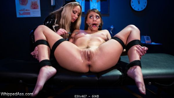 The Test Subject: Latex Nurse Aiden Starr Experiments on Gia Derza