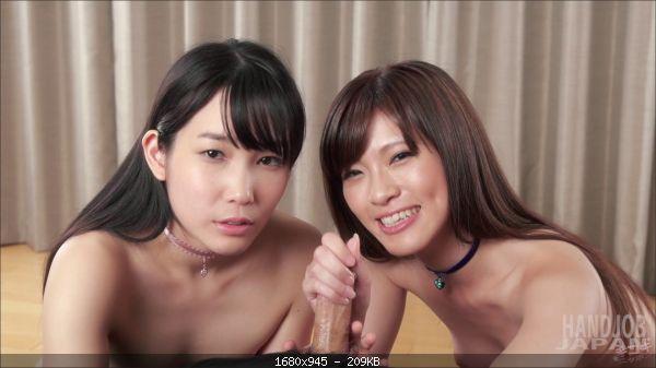 Sara Yurikawa and Yui Kasugano's double handjob