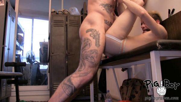 PBR - Pigboy, David, Valentin - French Slut Brutalized
