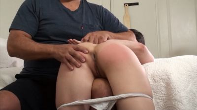 Daddys Girl Exposed, Spread and Spanked- Casey caught Masturbating