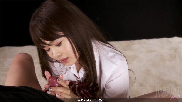 Schoolgirl Ayaka Yamashita's soft handjob
