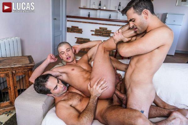 LE - Banging Ruslans Bubble Butt - Max Arion, Michael Lucas & Ruslan Angelo