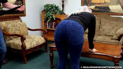 RealSpankings – Cara's Double Strapping For Not Wearing Her Mask (part 1)