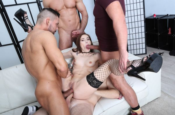 Mina - Mina 4on1 Balls Deep Anal, DAP, Gapes, ATM and Swallow GIO1415 (HD/2020) by LegalP0rno