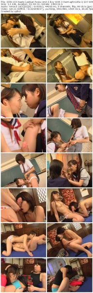 DDN-153 Nasty Lesbian Pussy And A Boy With 3 Hermaphrodite A Girl With A Thick Cock