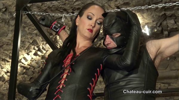 Chateau-Cuir - Bound Teased And Denied Leather Slave Part A