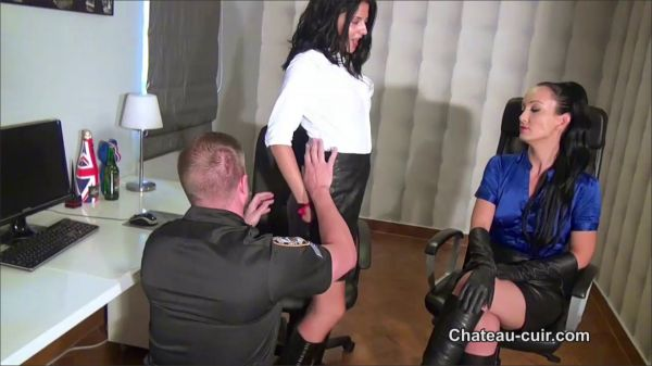 Chateau-Cuir - Cop Seduced By Leather Ladies Part A