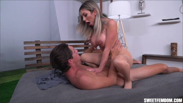 SweetFemdom - SweetFemdom - Lick Your Cum Off My Tits (Kat Dior)