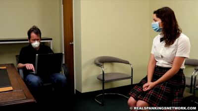 RealSpankingsInstitute – Kaylee Reports To The Dean For Mask Violations (part 1)