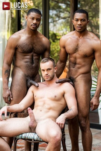 LE - Jackson Radiz, Sean Xavier & Adonis Couverture - Double Dose Of Black Cock
