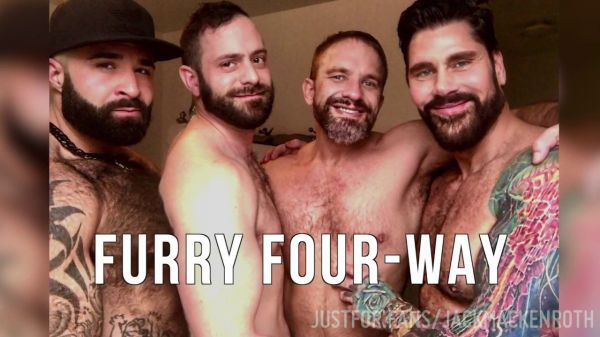 JFF - Furry Four-Way - Jack Mackenroth, Dirk Caber, Atlas Grant & Duane Trade