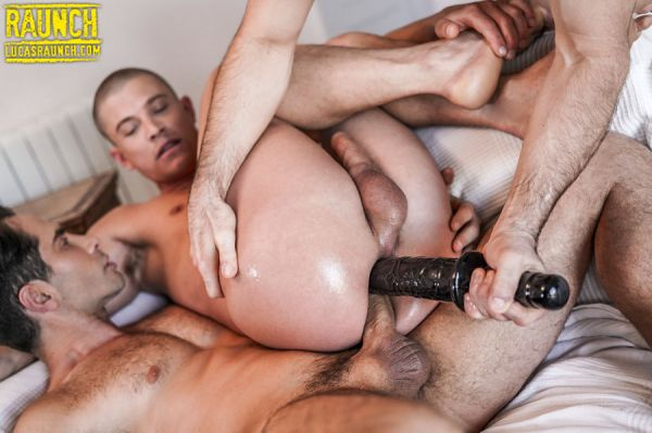 LR - Michael Lucas And Max Arion Double-Penetrate Ruslan Angelo With Dick And Toys
