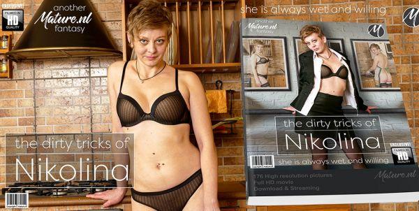 Horny housewife Nikolina getting dirty