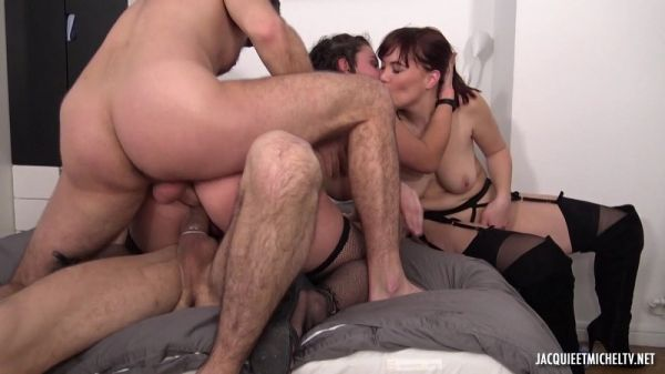 Angelique Luka & Lou - Unexpected Orgy With Lou, 20 Years Old!