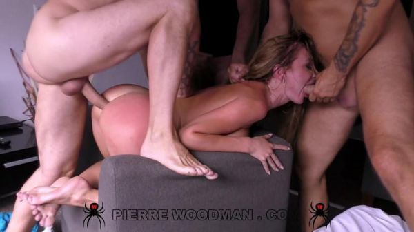 Woodmancastingx - Marylin Crrystal - Mega Sex Destruction By 5 Men