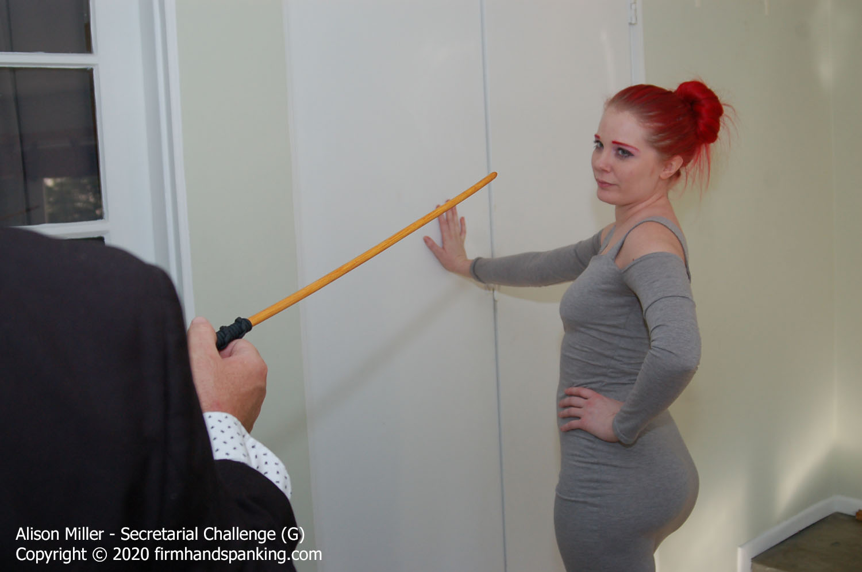 Firm Hand Spanking – Alison Miller – Secretarial Challenge – G