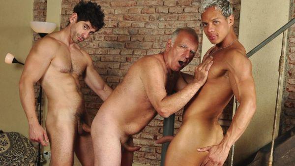 Older4Me - Bound Daddy Sex - Gerardo Mass, Hassan & Victorino