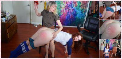 SpankingSororityGirls – Episode 239: Teacher Clare Spanks Coach Veronica