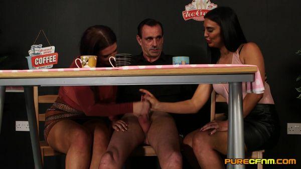 Effie Diaz, Roxee Couture - Free Coffee (17.07.2020) [FullHD 1080p] (CFNM)